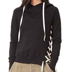 NSF Enzo laceup hoodie sweatshirt